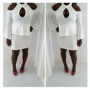Dresses & Skirts - White off the shoulder dress